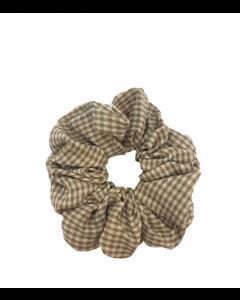 JA•NI Hair Accessories - Hair Scrunchies, The Sand Thin Checkered
