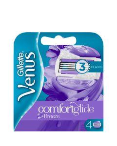 Gillette Venus Comfortglide BreezeBarberblade, 4 stk.