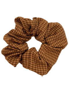 JA•NI Hair Accessories - Hair Scrunchies, The Red Thin Checkered