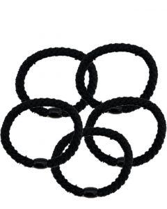 JA•NI Hair Accessories - Hair elastics, The Black Pack x 5